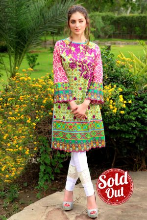 Sifona Embroidered Lawn Tunic-5B