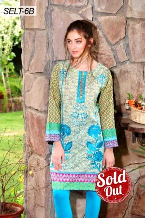 Sifona Embroidered Lawn Tunic-6B