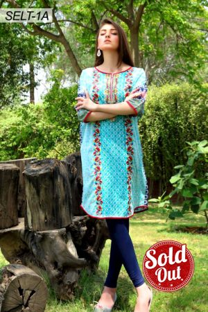 Sifona Embroidered Lawn Tunic-1A