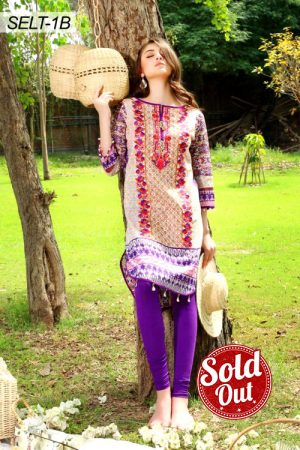 Sifona Embroidered Lawn Tunic-1B