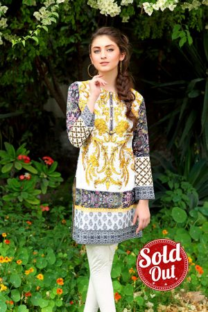 Sifona Embroidered Lawn Tunic-2B