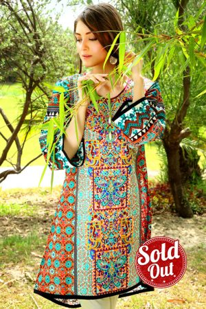 Sifona Embroidered Lawn Tunic-3A