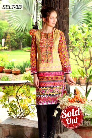 Sifona Embroidered Lawn Tunic-3B