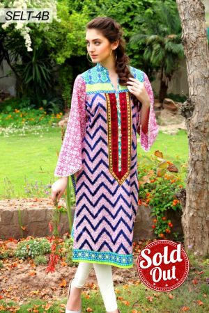 Sifona Embroidered Lawn Tunic-4B