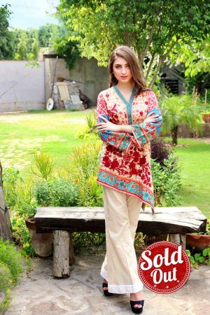 Sifona Embroidered Lawn Tunic-5A